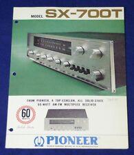 RARE_VINTAGE_Pioneer SX-700T Original 2 page Sales Brochure
