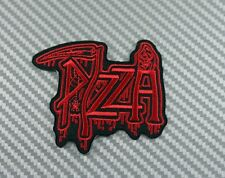 Embroidered Patch Iron Sew Logo PIZZA CHEESE music rock band 4