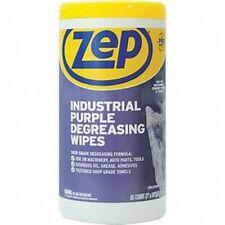 Zep Industrial Purple Degreasing Wipes, 65 Count