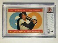 1960 Topps #564 Willie Mays AS BVG 7 NM San Francisco Giants PSA Fresh Graded