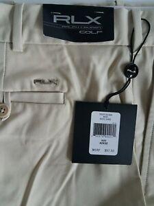 Ralph Lauren RLX Man's Stretch & Recover Golf Pants Size 42x32 Basic Sand - NEW