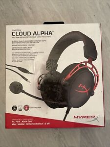 HYPERX Cloud Alpha Gaming Headset - Black & Red. Open never used