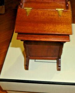 "miniature dollhouse davenport desk signed new meas 3"" high"