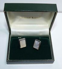 Cufflinks, Mother of Pearl, Ernest Jones Brand new in box, Sterling Silver