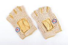 Rossin Crochet & Leather Retro Road Bike Gloves 3 Sizes Rare NOS