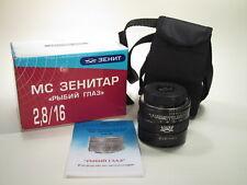 "MC Zenitar 2.8/16mm ""Fish Eye"" lens for Nikon, new design."