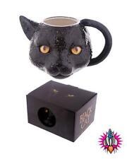 Chat noir 3D style animaux tasse de café tasse de nouveau dans boîte cadeau