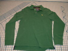 Abercrombie & Fitch Collared Shirt Long Sleeve Polo moose medium muscle fit EUC