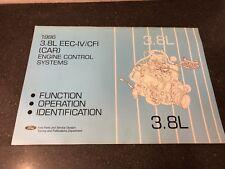 New listing 1986 Ford Car 3.8L Eec-Iv/Cfi Engine Control Systems Service Training Manual