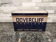 Vintage tin DOVERCLIFF DUSTLESS chalk American Crayon Co Sandusky Ohio  L23