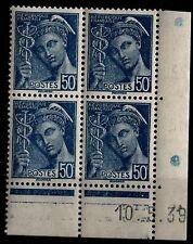 Coin Daté 10.5.39 du MERCURE 414A, Neufs ** = Cote 30 € / Lot Timbres France