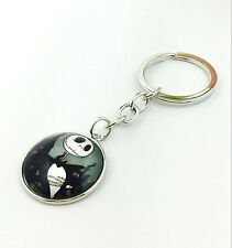 Vintage Fashion nightmare before Christmas glass pendant jewelry Key chain &