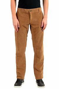 Dolce & Gabbana Homme Marron Velours Pantalon Décontracté Taille 28 30 32 34 36