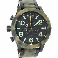 New Authentic Nixon Watch 51-30 Chrono Matte Black Camo  A083-1428 A0831428