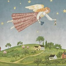 Country Angel Colonial Farm - 60 feet FREE SHIPPING - Can$ Wallpaper Border A171