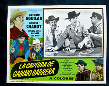 "ANTONIO AGUILAR ""LA CAPTURA DE GABINO BARRERA""AMADEE CHABOT N M LOBBY CARD PHOTO"