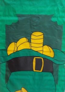 """Leprechaun Hat and Coins St. Pat's Standard House Flag by CBK, 28"""" x 40"""" #2160"""