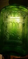 Nice Large Emerald Green Refrigerator Water Bottle Half Gallon? Embossed Icicles
