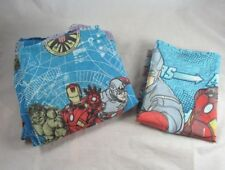 2012 Marvel Comics Avengers Fitted Sheet Pillowcase Hulk Spiderman Superheroes