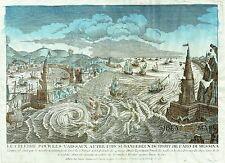 1784 Chereau MESSINA earthquake Sicily - Italy - Vue d'Optique Guckkasten italia