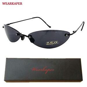 The Matrix Neo Style Polarized Sunglasses Ultralight Rimless Men Driving Brand