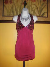 NWT  Arden B. $148 Very Berry Sequin Embellished Dress Size XS