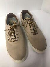 Polo Ralph Lauren Vaughn Tan canvas sneakers Mens casual shoes sz 13D