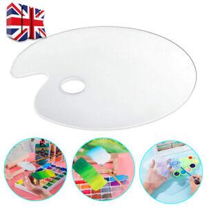 Oval Palette Transparent Acrylic Painting Artist Mix Gouache Paint Palette UK