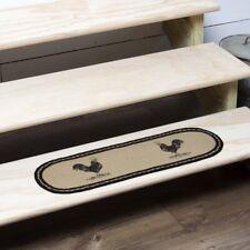 "VHC Farmhouse Stair Tread Sawyer Mill Chicken Flooring Jute Stenciled 8.5"" x 27"""