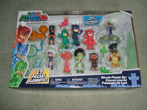 Just Play PJ Masks Deluxe Figure Set 17 Pieces, Factory Sealed
