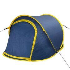 Tienda de Campaña dos personas camping mosquitera pop Up 3 colores Azúl marino y amarillo