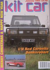Kit car magazine 01/1993 featuring Hawk 289, Joop Donkervoort, Legandary, Rotus