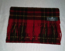 LOCHCARRON Highlander Collection 100% LAMBSWOOL Scarf Approx 29 x 135 cm