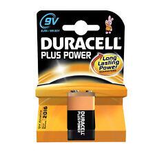 1 x Duracell Plus Power 9V Batteries MN1604 6LR61 PP3 Batteries Very Long Expiry