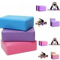 1X Pilates Yoga Block Foaming Foam Brick Exercise Fitness Stretching Aid .FN