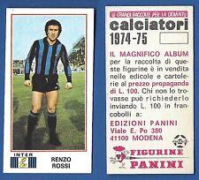 FIGURINA CALCIATORI PANINI  1974/75 - NUOVA/NEW  - 179 ROSSI - INTER