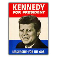 John F. Kennedy Presidente per metallo segno Piastra a parete campagna presidenziale di stampa