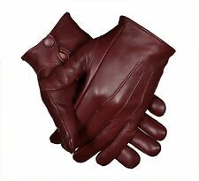 Unlined Driving Gloves with Snaps | Genuine Leather | Perfect Fit | Premium Soft