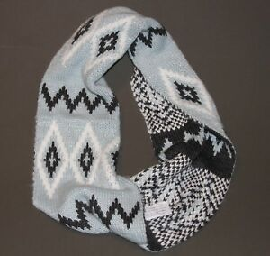 NWT ABERCROMBIE & Fitch Womens Girls Vintage Knit Shine Infinity Scarf