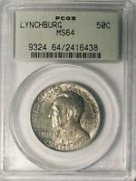 1936 Lynchburg Commemorative Silver Half Dollar - PCGS MS 64 - Mint State 64