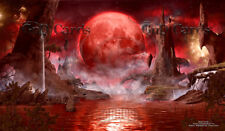 """Blood Moon"" Custom Playmat MTG"
