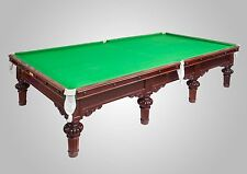 Full Size Restored Antique Snooker Table by Burroughs & Watts