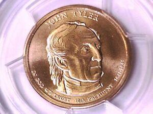 2009 D John Tyler Dollar PCGS SP 68 Satin Finish Position B 15428522