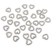 200 silver pearl en forme de cœur double face 11mm Décoration de table scatter perles