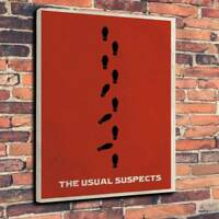 """The Usual Suspects Movie Poster Printed Box Canvas A130""""x20"""" Deep 30mm Frame"""