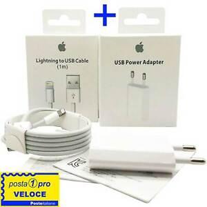 Caricatore Caricabatterie + Cavo Lightning per iPhone 5 6 7 8 XS 11 ORIGINALE
