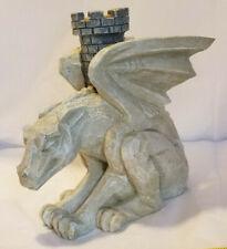 Gargoyle Gothic Dragon Candle Holder Winged Flying Medieval Mythical Art Toscano