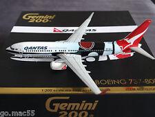 Qantas Mendoowoorrji Boeing 737-800W VH-XZJ Gemini Jets Model 1:200 - G2QFA443
