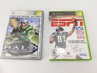 XBOX - 2 Games - ESPN NFL 2K5 & Halo Combat Evolved Platium - Complete & Working