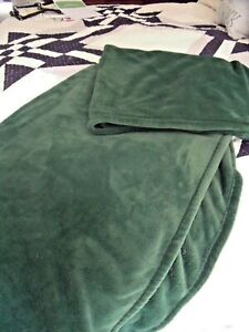 "COZY Berkshire Blanket GREEN FLEECE THROW BLANKET 60"" X 80"" OVERSIZED Velvet"
